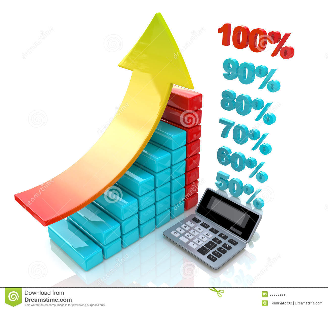 Chart Economic Profit Royalty Free Stock Images.