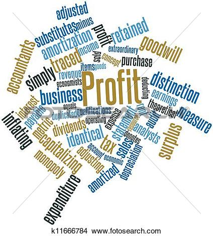 Drawings of Word cloud for Profit k11666784.