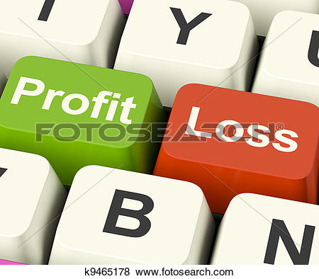 Clipart of Profit Thermometer Represents Profitable Income And.