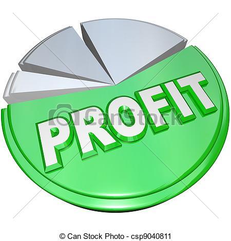 Clipart of Profit Pie Chart Revenue Split Profits Vs Costs.
