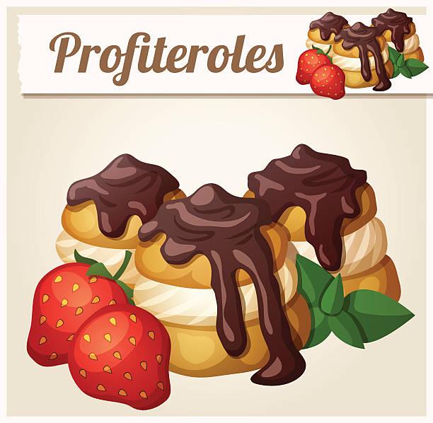 Profiterole Clip Art, Vector Images & Illustrations.