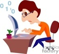 Programmer Clip Art Image.