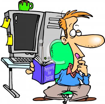 Computer Programmer Clipart.