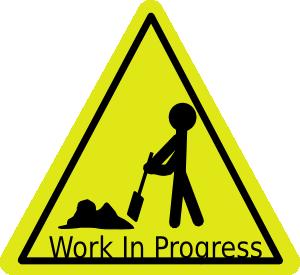 Work In Progress clip art Free Vector / 4Vector.