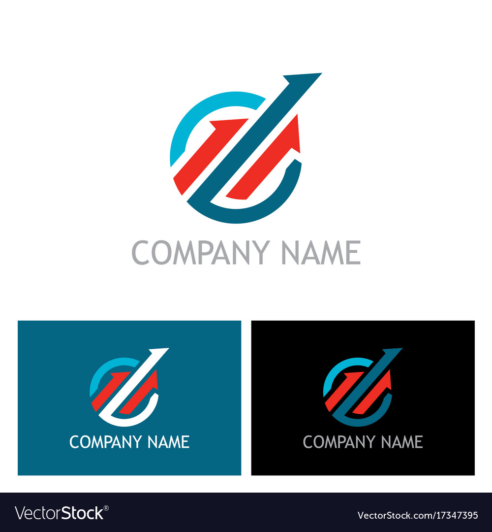Arrow progress up logo.