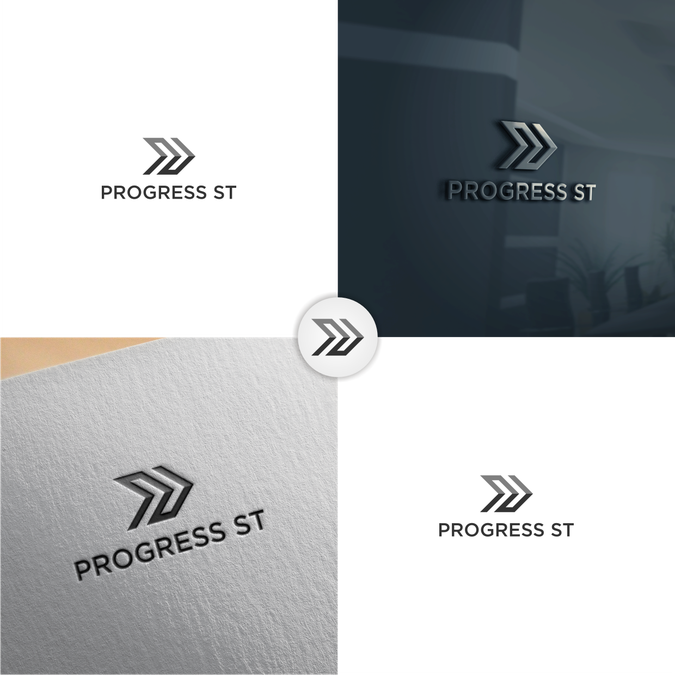 Design an inspiring logo for Progress St., to convey hope.