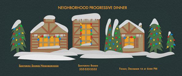 Plan a Progressive Dinner.