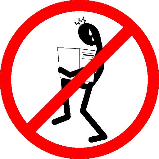 Prohibido Cargar Computadoras Clipart.