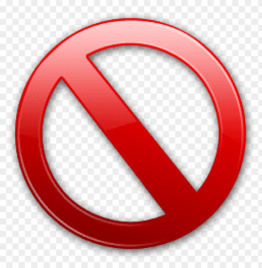 prohibido simbolo PNG image with transparent background.