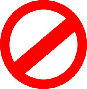 Prohibited Clip Art at Clker.com.