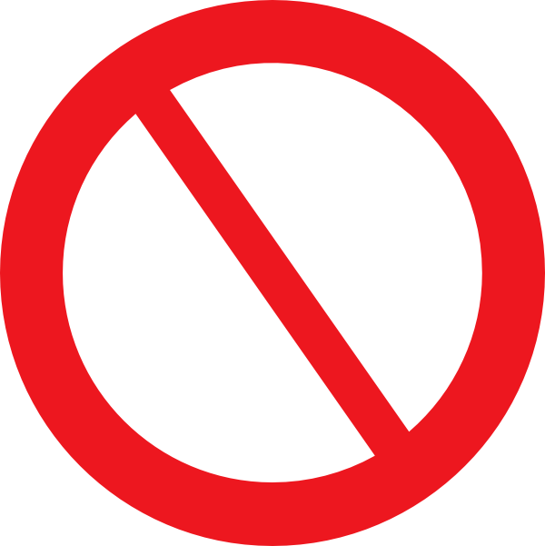 Prohibited clipart.