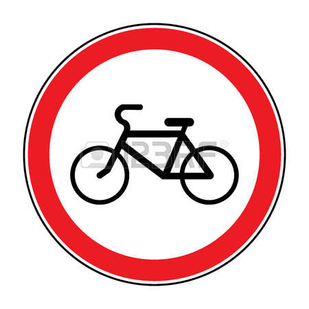 251 Bicycles Prohibition Sign Stock Illustrations, Cliparts And.