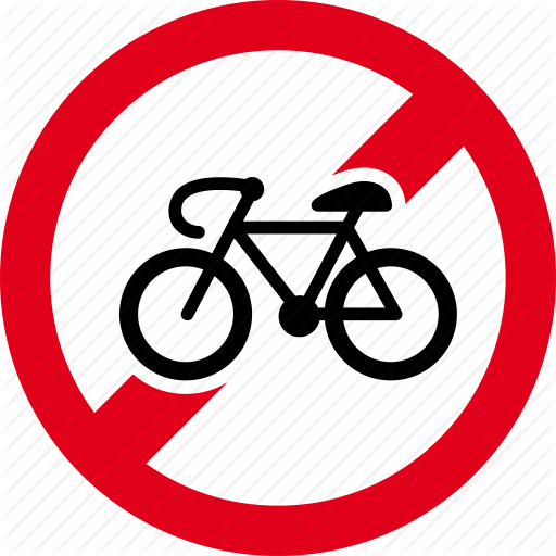 Bicycle, bike, entry, forbidden, no, prohibited, ride icon.