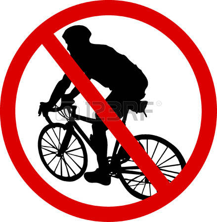 236 Bicycles Prohibition Sign Stock Illustrations, Cliparts And.