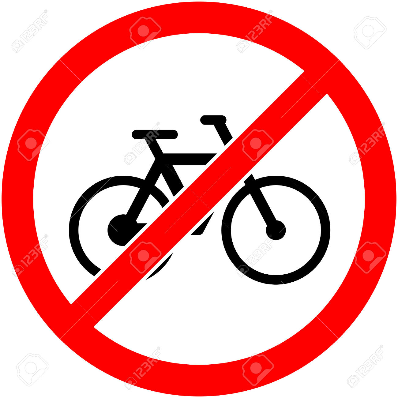 No Bicycle, Bike Prohibited Symbol. Sign Indicating The.