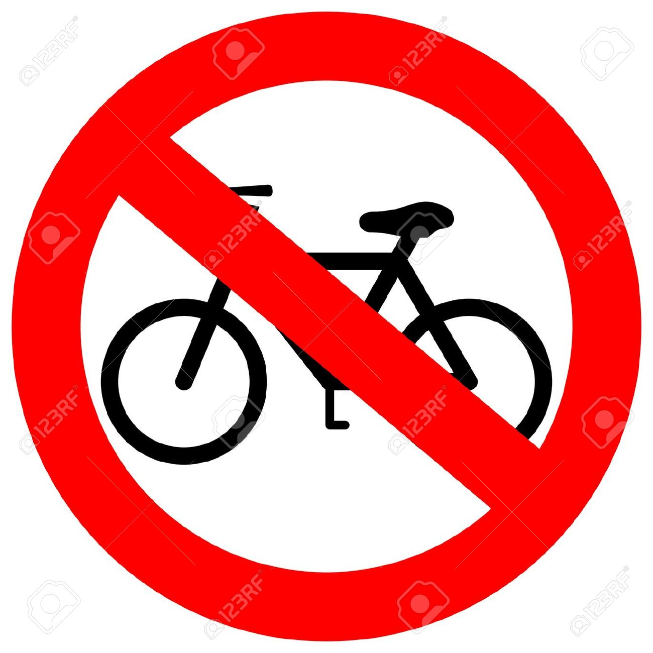 Sign No Bicycle Royalty Free Cliparts, Vectors, And Stock.