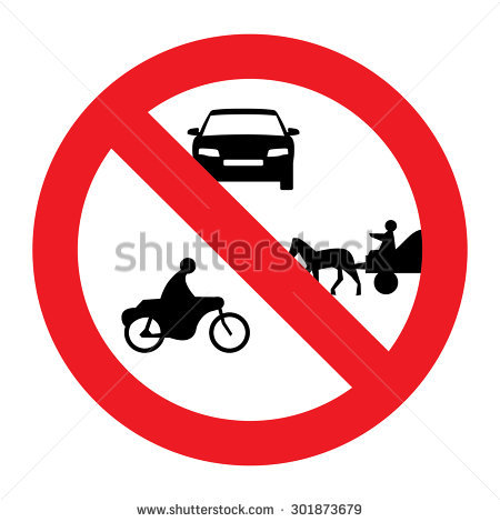 All Motor Vehicles Prohibited Stock Photos, Royalty.