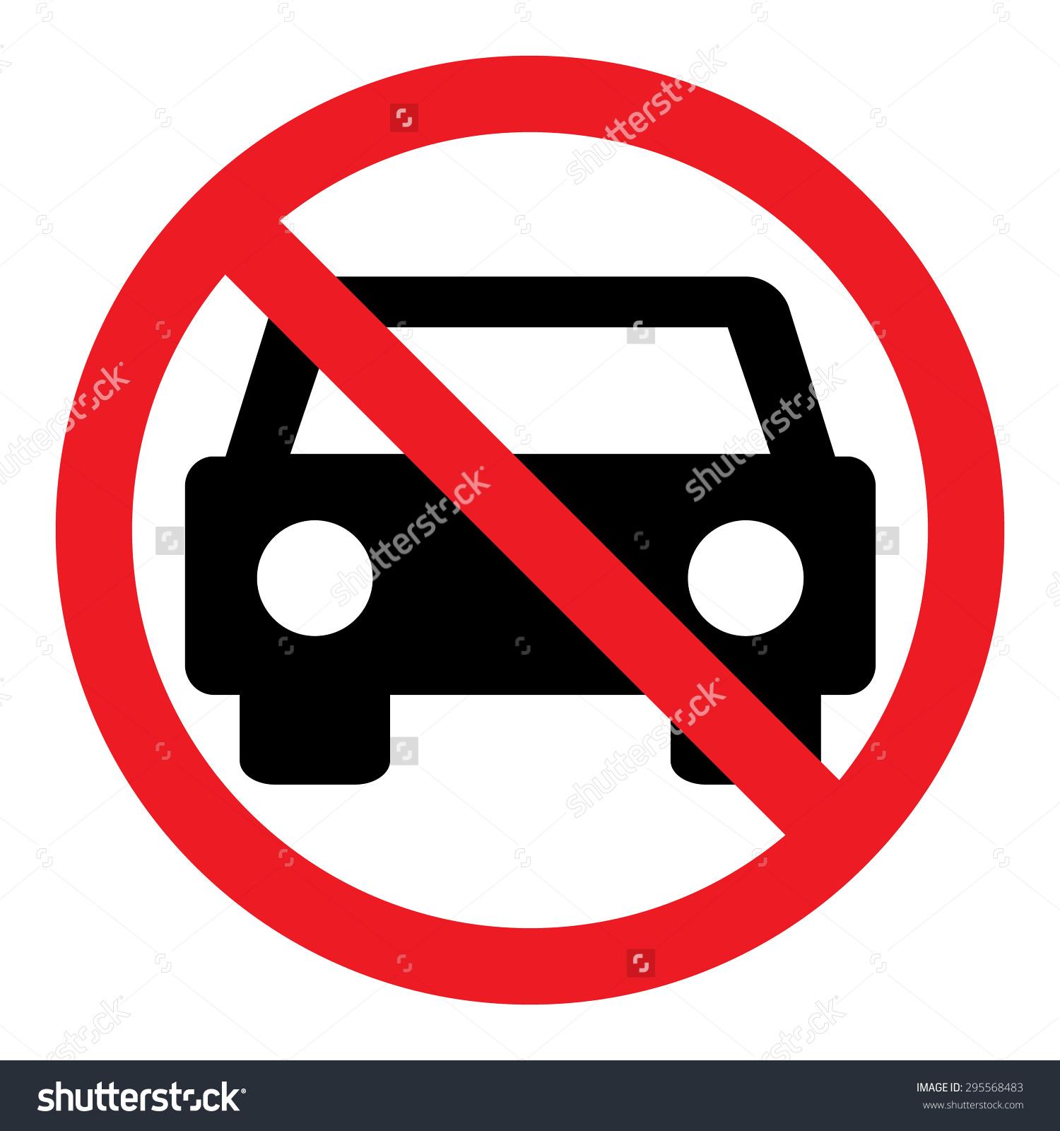 Circle Prohibited Sign No Car No Stock Vector 295568483.