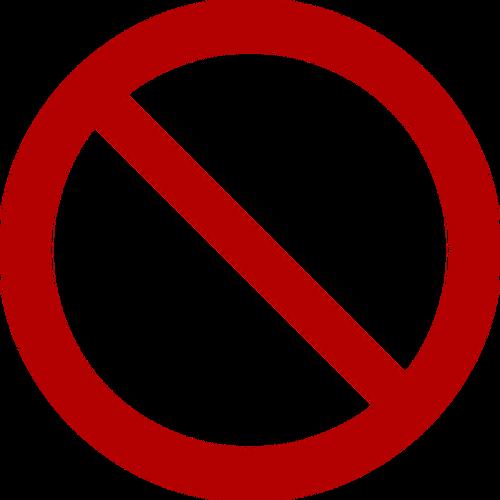 Prohibition symbol vector clip art.