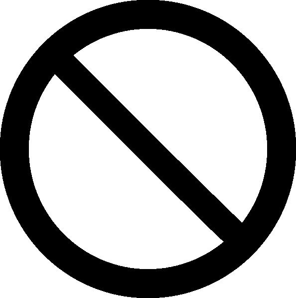 Prohibited Symbol Clip Art at Clker.com.