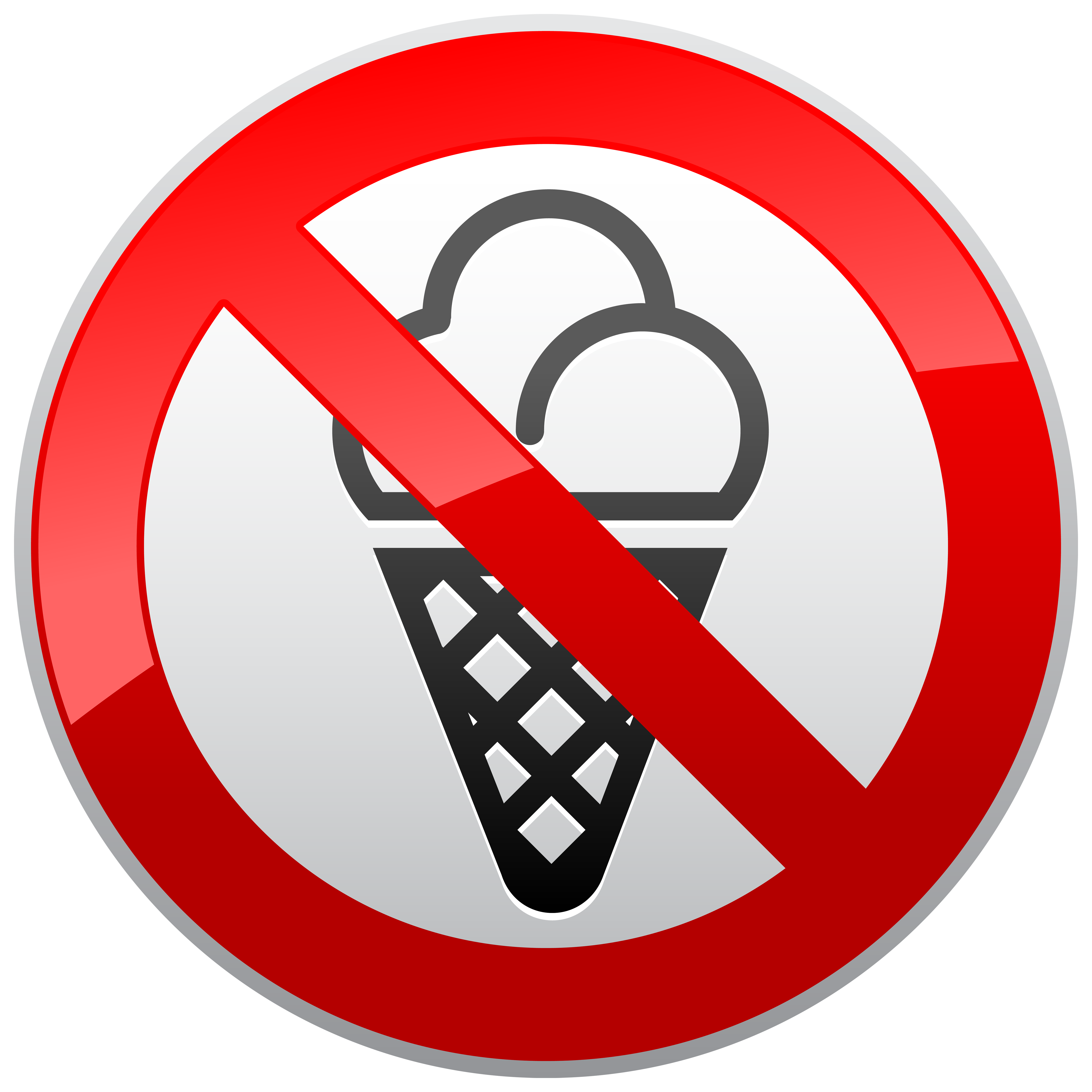 No Ice Cream Prohibition Sign PNG Clipart.