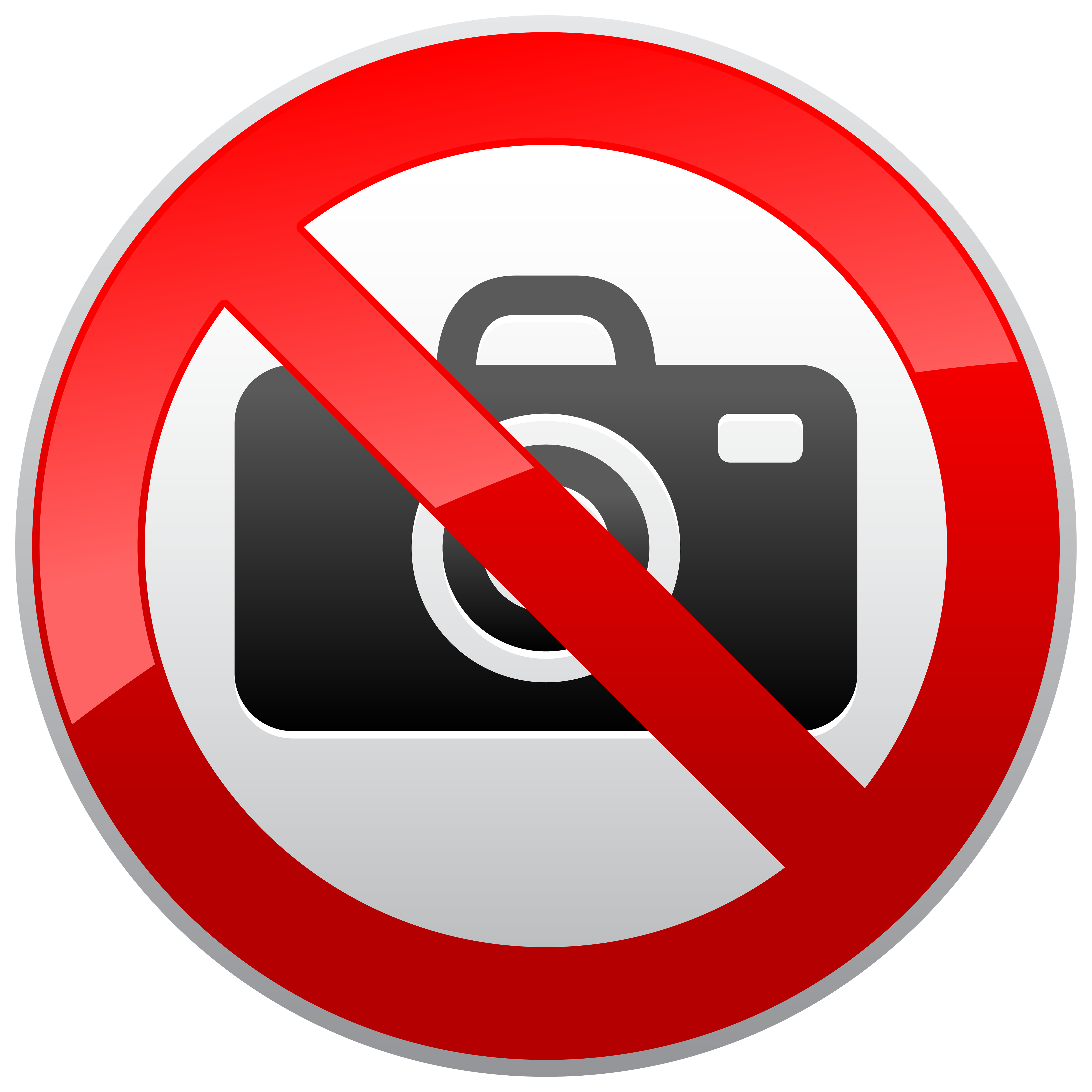 No Photography Prohibition Sign PNG Clipart.