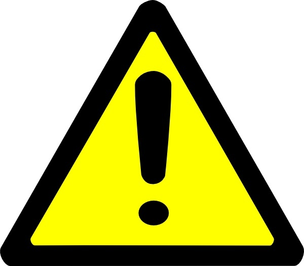 Warning Sign clip art Free vector in Open office drawing svg.