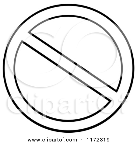 Free clipart prohibited sign.