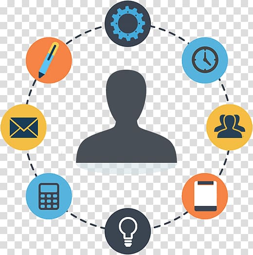 Phone icons illustration, Project management Operations.
