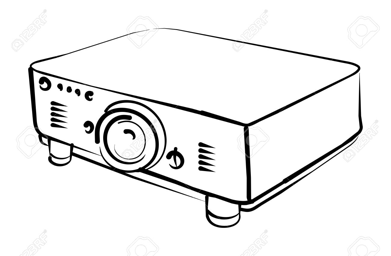 Projector Stock Vector.