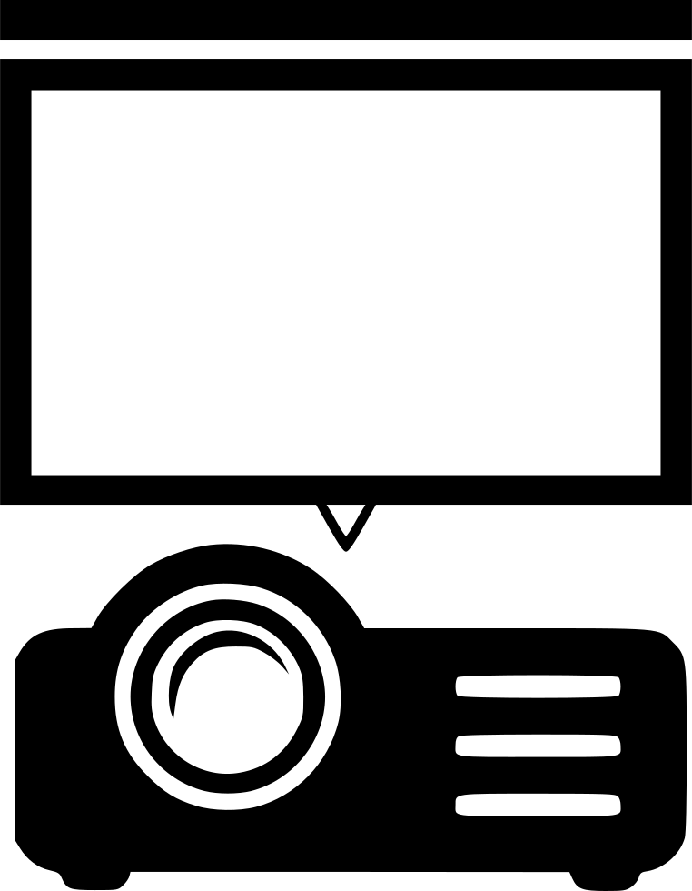 Projector Screen Movie Presentation Svg Png Icon Free.