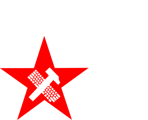 Hammer And Keyboard In Star Proletariat Clipart.