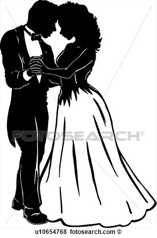 Prom Couples Clipart.