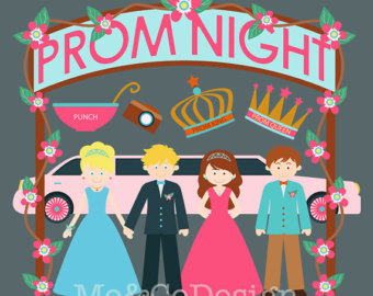 School prom clipart.