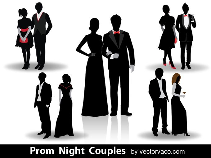 Prom Night Couples Silhouettes 12024.