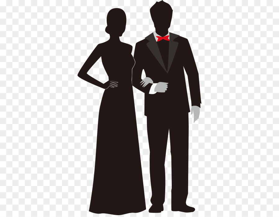 Prom Couple Silhouette.