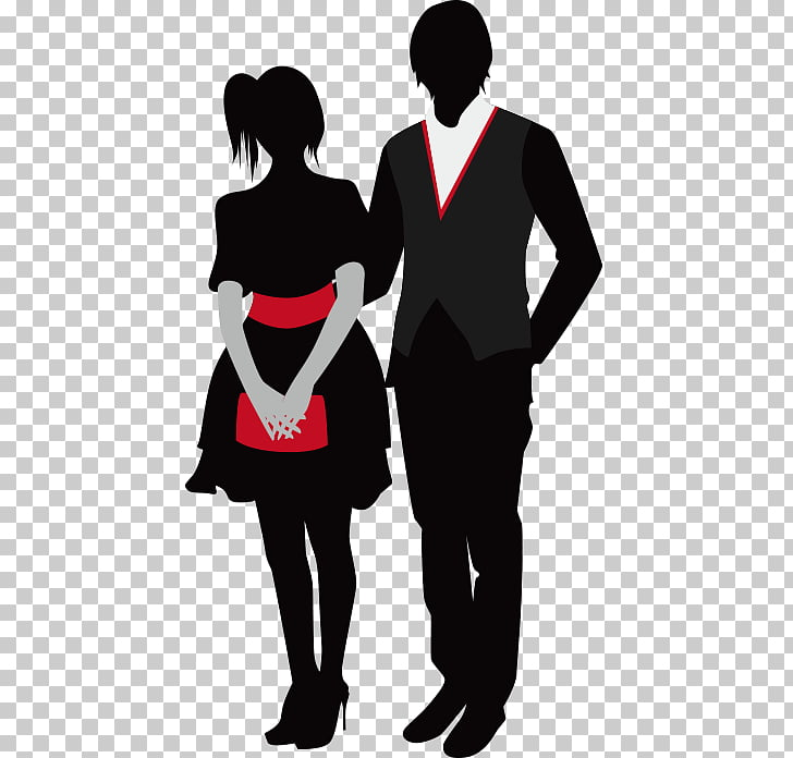 Prom , Couple Dress Western PNG clipart.