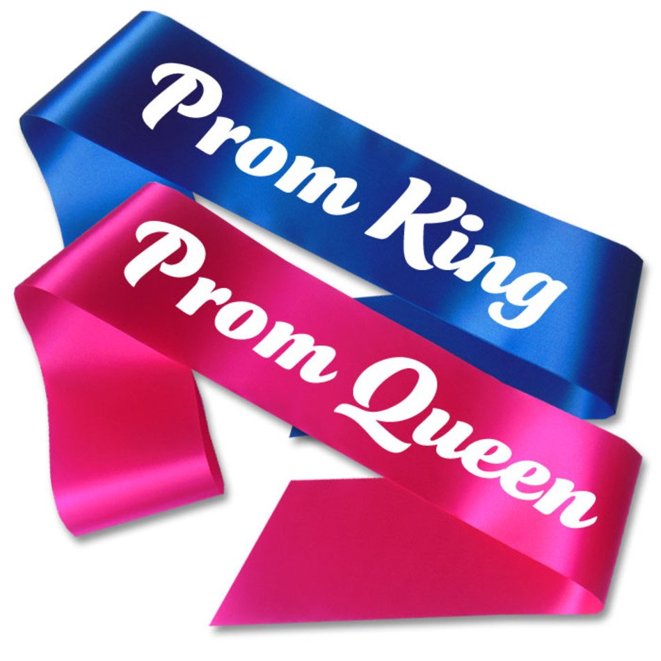 Prom King And Queen Sashes free image.