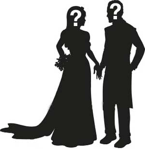 Prom King And Queen Silhouette.