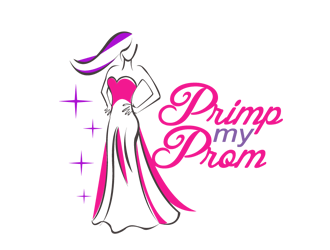 Primp my Prom logo design.