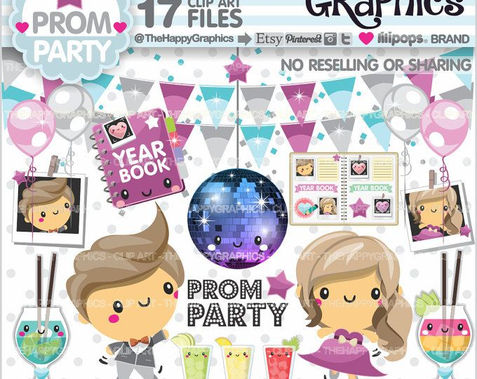 Prom Clipart, Prom Graphics, COMMERCIAL USE, Prom Party.