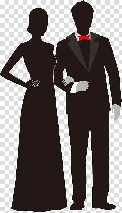 Prom Silhouette , couple dress elderly, bride and groom art.