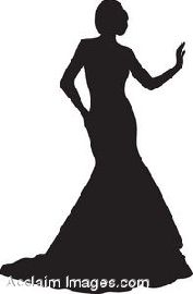 Clip Art Illustration Of A Spring Bride In A Strapless Gow Flickr.