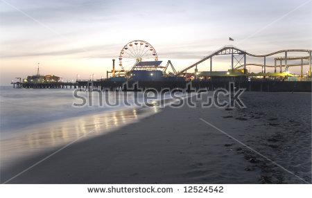 Santa Monica Pier Stock Photos, Royalty.