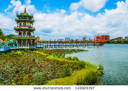 Kaohsiung Taiwan Kaohsiungs Famous Tourist Attractions Stock Photo.
