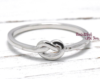 Knot promise ring.