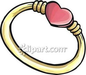 Ring With A Pink Heart.