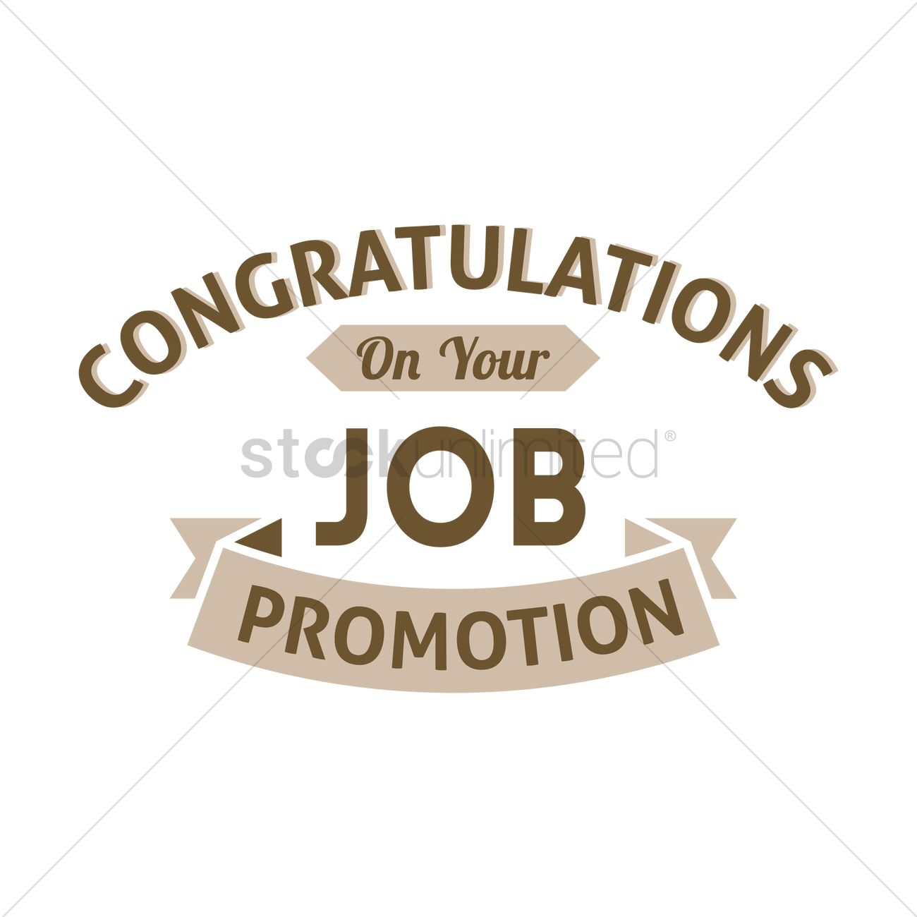 Congratulation job promotion wish Vector Image.