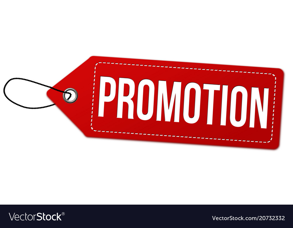 Promotion label or price tag.
