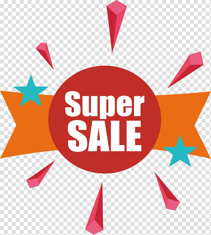 Super Sale logo, Poster Logo Label, Red circle super.